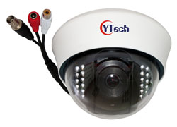 15M IR 4.0M Pixel HD AHD Audio Dome Camera